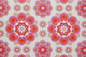 1970's Vintage Wallpaper Retro Red and Purple Vinyl