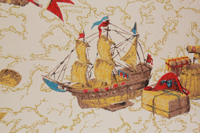 1970's Vintage Wallpaper Ships and Maps