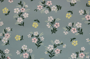 1940's Vintage Wallpaper Small Flowers on Blue