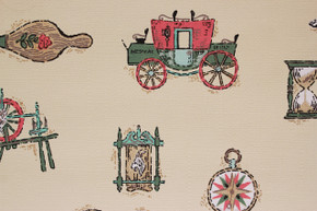 1950's Vintage Wallpaper Stagecoach