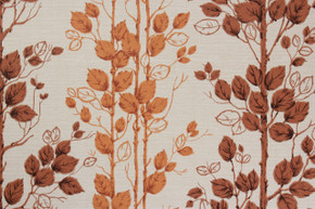 1970's Vintage Wallpaper Vine with Orange and Brown Leaves Vinyl
