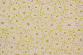 1970's Vintage Wallpaper White Daisies on Yellow