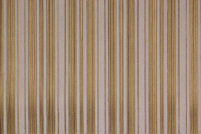 1970's Vintage Wallpaper White Flocked Stripe on Gold Black Pinstripe