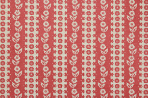 1970's Vintage Wallpaper White Floral on Red