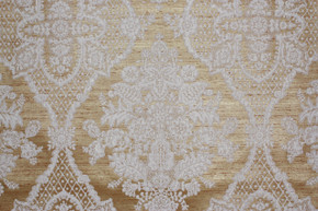 1970's Vintage Wallpaper White Large Flocked Damask