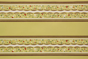 1940's Vintage Wallpaper Border Yellow and Brown