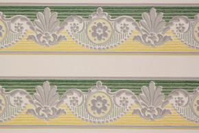 1950's Vintage Wallpaper Border Green and Yellow
