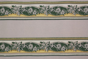 1940's Vintage Wallpaper Border Green and Yellow