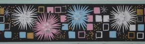Trimz Vintage Wallpaper Border Mosaic-Black