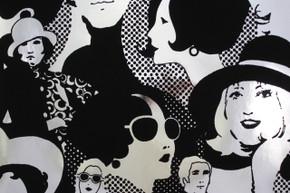 1970's Vintage Wallpaper Flocked Mylar Seventies Glam