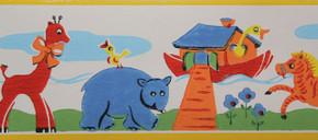 Trimz Vintage Wallpaper Border Noah's Ark