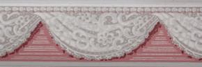 Trimz Vintage Wallpaper Border Lace Swag Rose