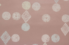 1950's Vintage Wallpaper Retro Starbursts Geometric on Dark Pink