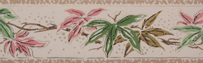 Trimz Vintage Wallpaper Border Japanese Maple Pink
