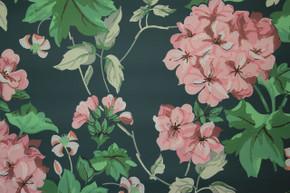 1950's Vintage Wallpaper Geranium Ivy