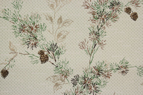 1950's Vintage Wallpaper Botanical Pine Tree Branch Cones