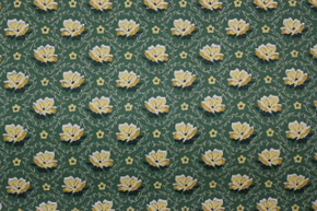 1950's Vintage Wallpaper Small Yellow Flowers on Green