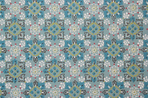 1960's Vintage Wallpaper Aqua Geometric