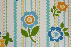 1970's Vintage Wallpaper Rick Rack Floral