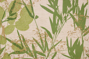 1970's Vintage Wallpaper Vinyl Green Cattails