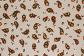 1970's Vintage Wallpaper Brown Paisley