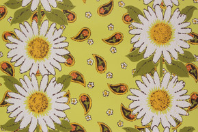 1970's Vintage Wallpaper Sunflower Paisley