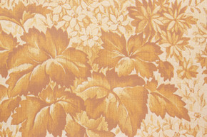 1970's Vintage Wallpaper Leaves and Flowers Golden