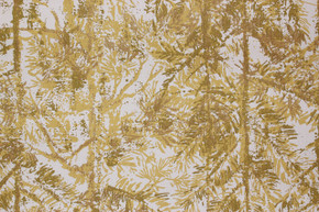 1970's Vintage Wallpaper Yellow and Brown Pine Trees