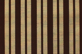 1970's Vintage Wallpaper Brown Flocked Stripe on Gold