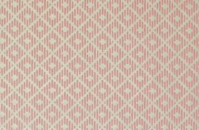 1970's Vintage Wallpaper Pink Diamond Flocked on White