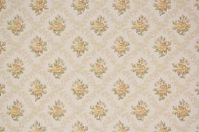 1970's Vintage Wallpaper Yellow Rose Geometric