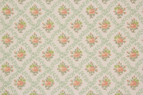 1970's Vintage Wallpaper Orange Rose Geometric
