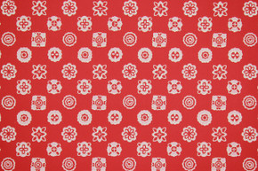1950's Vintage Wallpaper White Geometric on Red