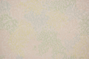 1940's Vintage Wallpaper Pink Blue and Yellow Swirl