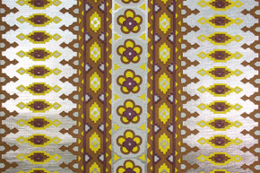 1970's Vintage Wallpaper Mylar Yellow and Purple