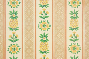 1970's Vintage Wallpaper Pineapple