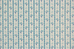 1970's Vintage Wallpaper Vinyl Blue Floral Stripe