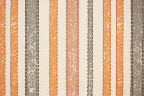 1970's Vintage Wallpaper Orange Gray Stripe
