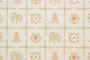 1980's Retro Vintage Wallpaper Country Hearts