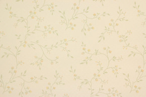 1970's Vintage Wallpaper Small Yellow Floral Vine