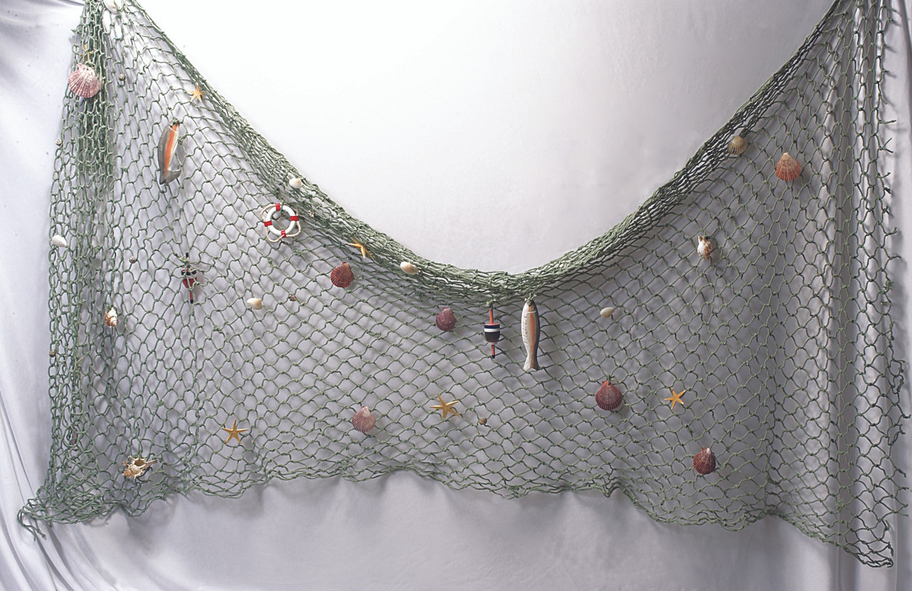 Decorative fish net with shells accessories fishnet for Fish net decoration ideas
