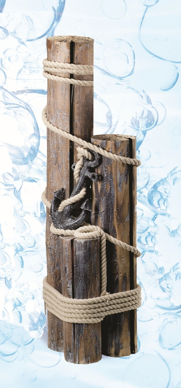 Outdoor Wall Decor Nautical : Find decorative nautical pilings with rope anchor