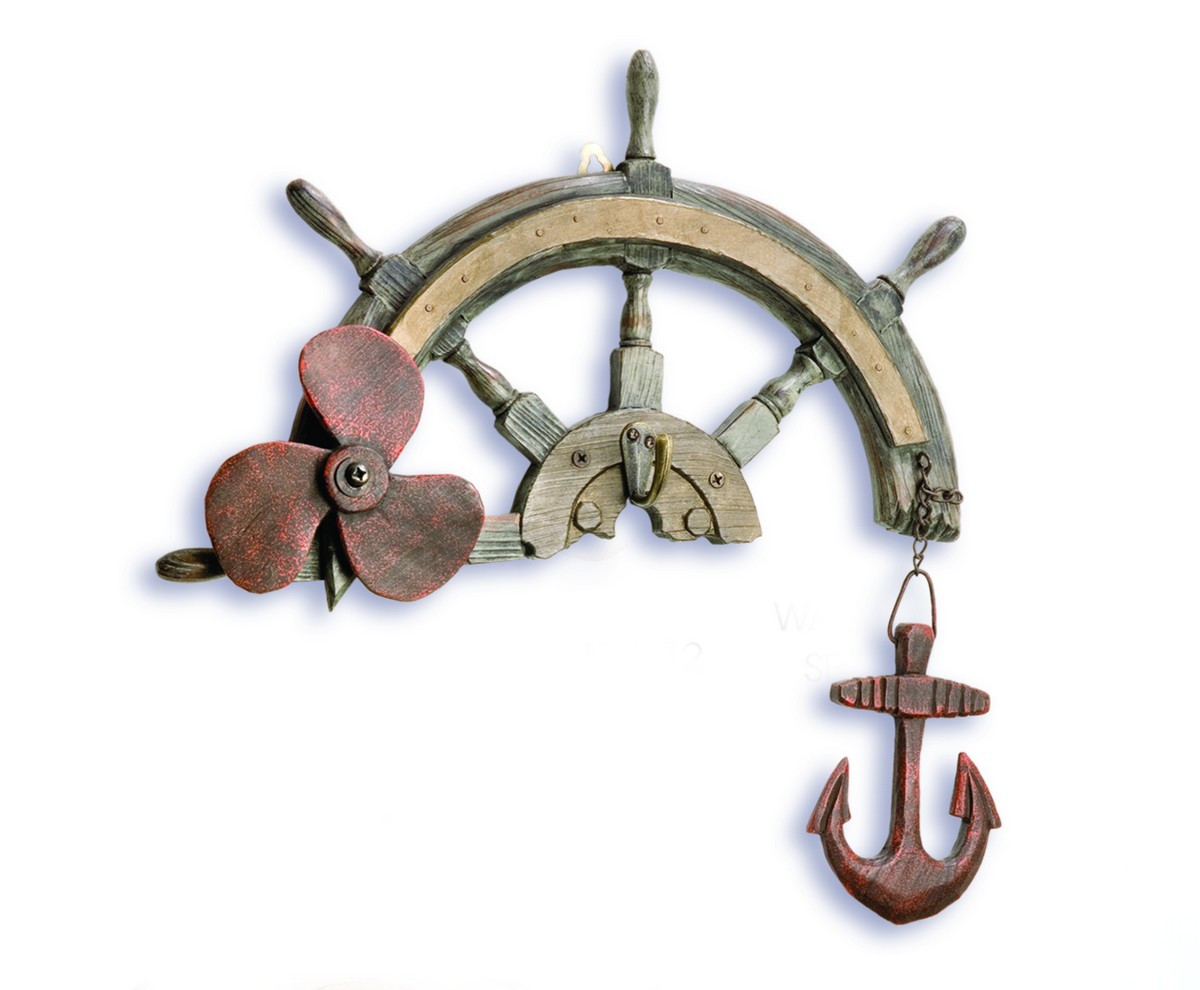 Ship 39 S Wheel With Hook Decorative Wall Hanging Beach Home