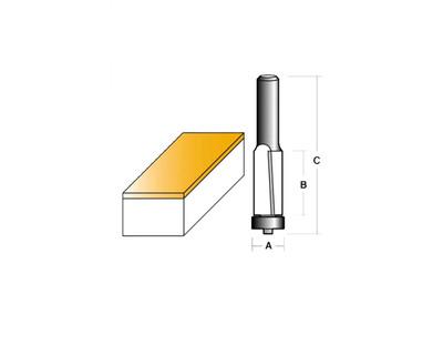 Carb-I-Tool TSH8024B1/2 Flush Trim 3 Degree Neg Shear 19mm