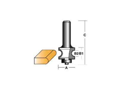 """Carb-I-Tool TBN3B1/2 Bull Nose 21.4mm 1/2"""" Shank"""