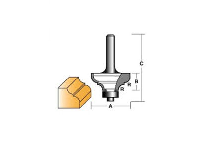 "Carb-I-Tool TCR16B1/2 Provincial 38.1mm 1/2"" Shank"
