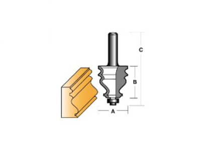 "Carb-I-Tool TFM42B1/2 Face Moulding 38.1mm 1/2"" Shank"