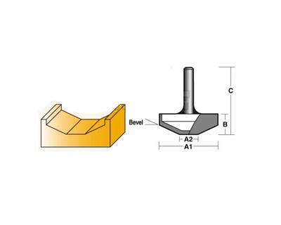 "Carb-I-Tool TPD501/2 Panel Bit 25 Degree Bevel 1/2"" Shank"