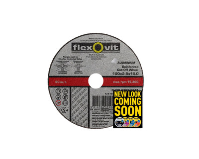 Flexovit 1610216 Aluminium Cut Off Wheel 100x2.5x16mm