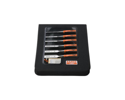 Bahco 424P-S6-ZC Bevel Edge Wood Chisel Set 6 Pce